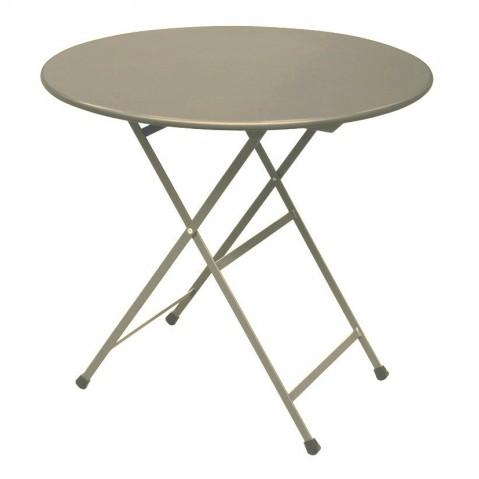 Table ronde ARC EN CIEL de Emu, Aluminium