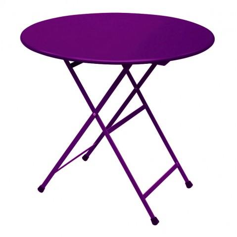 Table ronde ARC EN CIEL de Emu, Lilas
