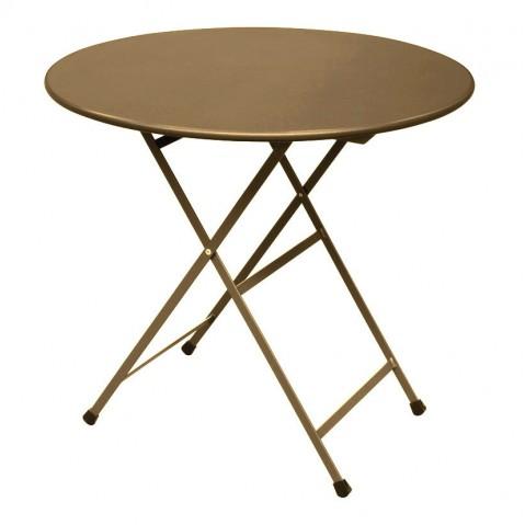 Table ronde ARC EN CIEL de Emu, Marron d'Inde