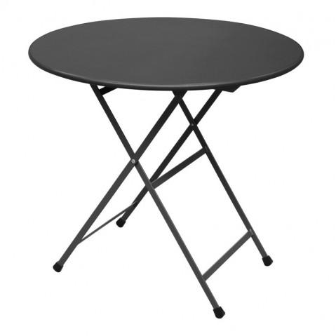 Table ronde ARC EN CIEL de Emu, Noir