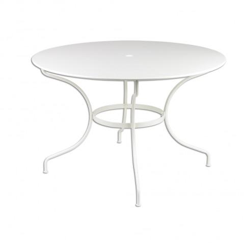 Table ronde D.117 OPÉRA de Fermob blanc coton