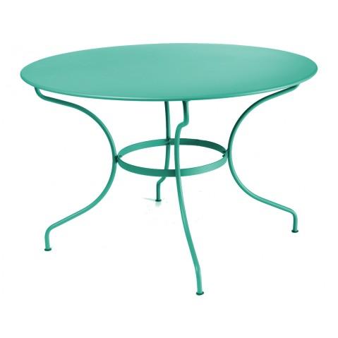 Table ronde D.117 OPÉRA de Fermob bleu turquoise