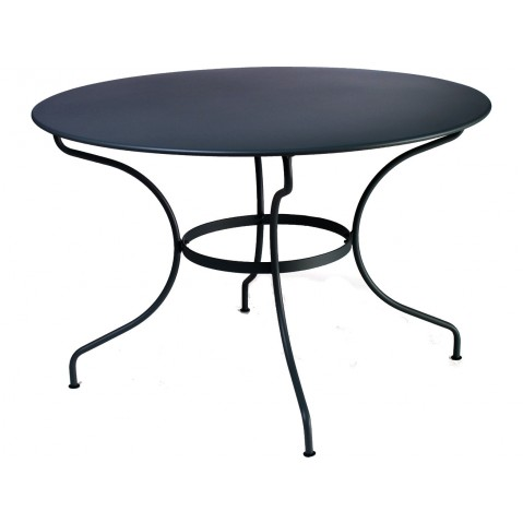 Table ronde D.117 OPÉRA de Fermob noir réglisse
