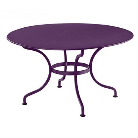 Table ronde D.137 ROMANE de Fermob, Aubergine