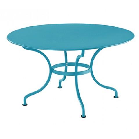Table ronde D.137 ROMANE de Fermob, Bleu turquoise