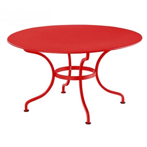 Table ronde D.137 ROMANE de Fermob, Coquelicot