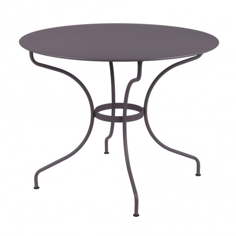 Table ronde D.96 cm OPÉRA de Fermob, Prune