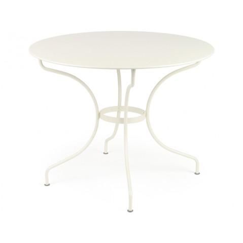 Table ronde D.96 OPÉRA de Fermob, Blanc Coton