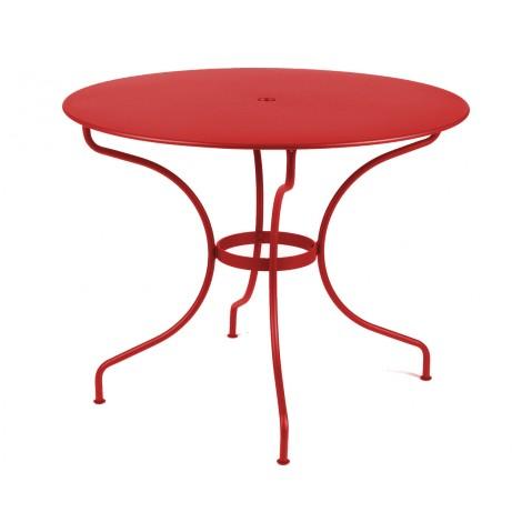 Table ronde D.96 OPÉRA de Fermob, Coquelicot