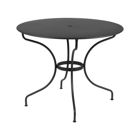 Table ronde D.96 OPÉRA de Fermob noir réglisse