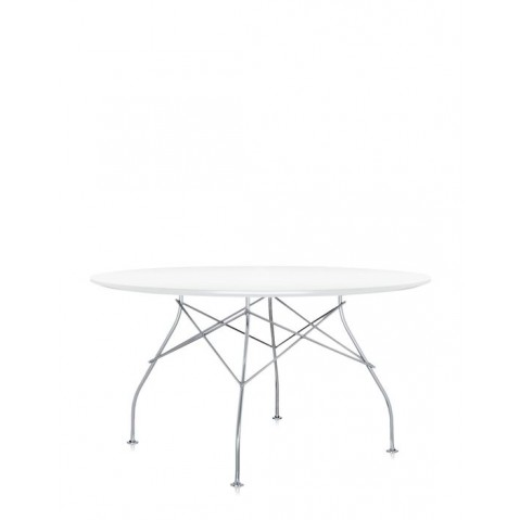 Table ronde GLOSSY de Kartell, 3 coloris