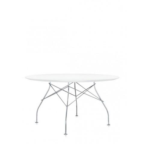 Table ronde GLOSSY de Kartell, Blanc-brillant