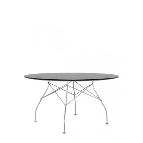 Table ronde GLOSSY de Kartell, Noir