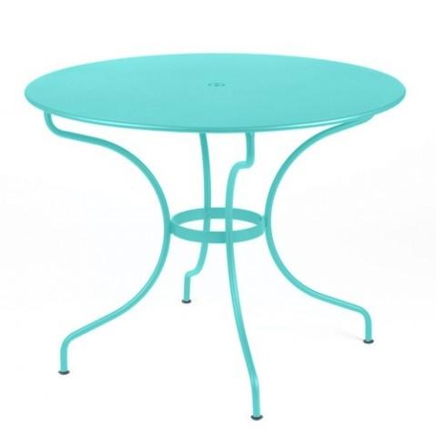 Table ronde OPÉRA D. 96 de Fermob Bleu lagune
