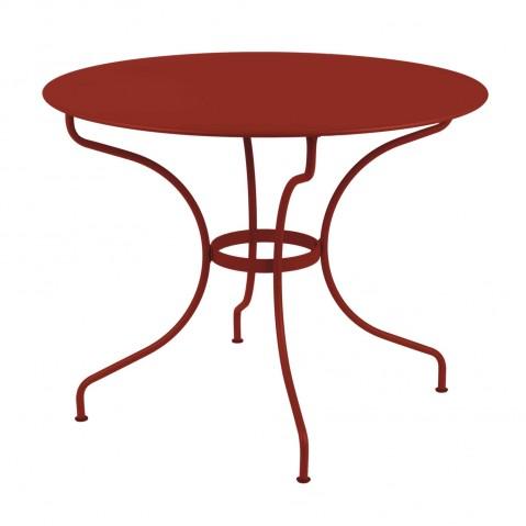 Table ronde OPÉRA D.96 de Fermob piment