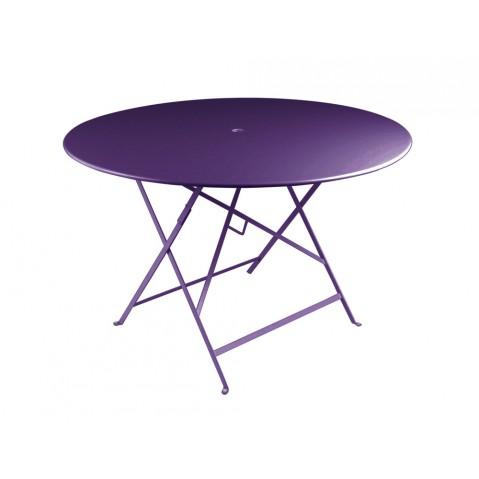 Table ronde pliante BISTRO de Fermob D.117 x H.74 cm Aubergine
