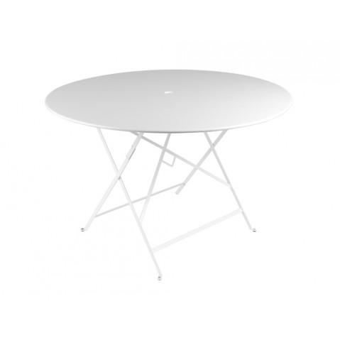 Table ronde pliante BISTRO de Fermob D.117 x H.74 cm Blan coton