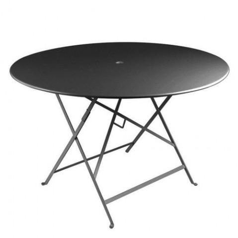 Table ronde pliante BISTRO de Fermob D.117 x H.74 cm Carbone