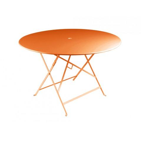 Table ronde pliante BISTRO de Fermob D.117 x H.74 cm Carotte