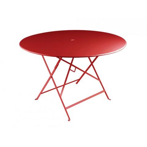 Table ronde pliante BISTRO de Fermob D.117 x H.74 cm Coquelicot