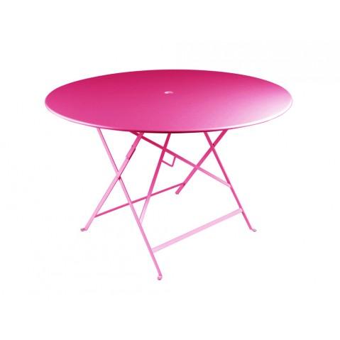 Table ronde pliante BISTRO de Fermob D.117 x H.74 cm Fuchsia