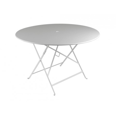 Table ronde pliante BISTRO de Fermob D.117 x H.74 cm Gris métal