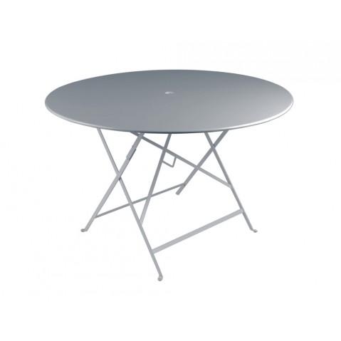Table ronde pliante BISTRO de Fermob D.117 x H.74 cm Gris orage