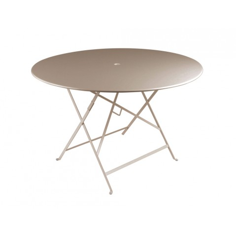 Table ronde pliante BISTRO de Fermob D.117 x H.74 cm Muscade