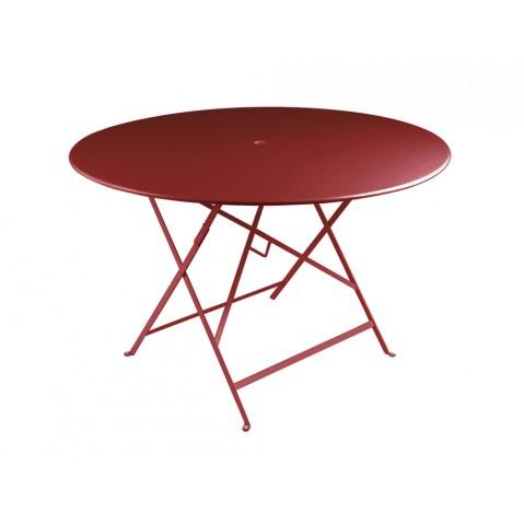 Table ronde pliante BISTRO de Fermob D.117 x H.74 cm Piment