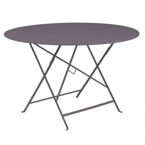 Table ronde pliante BISTRO de Fermob D.117 x H.74 cm Prune