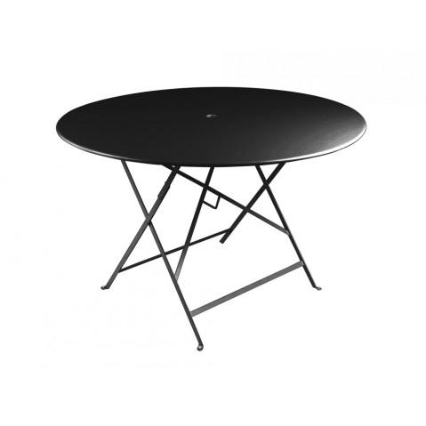 Table ronde pliante BISTRO de Fermob D.117 x H.74 cm Réglisse