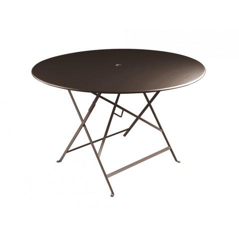 Table ronde pliante BISTRO de Fermob D.117 x H.74 cm Rouille