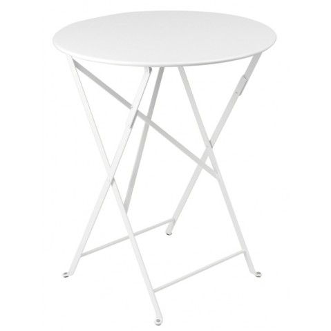 Table ronde pliante BISTRO de Fermob D.60 x H.74 cm Blan coton
