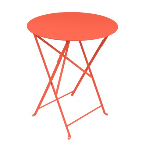 Table ronde pliante BISTRO de Fermob, D.60 x H.74 cm, Capucine
