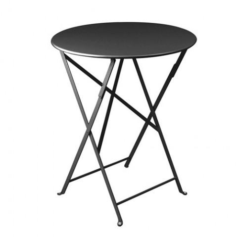 Table ronde pliante BISTRO de Fermob D.60 x H.74 cm Carbone