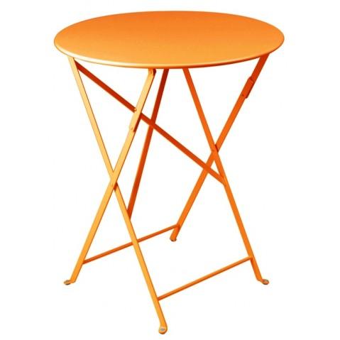 Table ronde pliante BISTRO de Fermob D.60 x H.74 cm Carotte