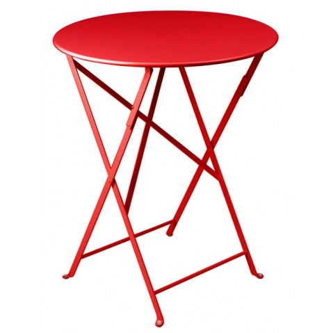 Table ronde pliante BISTRO de Fermob D.60 x H.74 cm Coquelicot