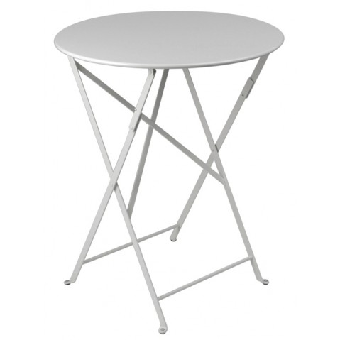Table ronde pliante BISTRO de Fermob D.60 x H.74 cm Gris métal