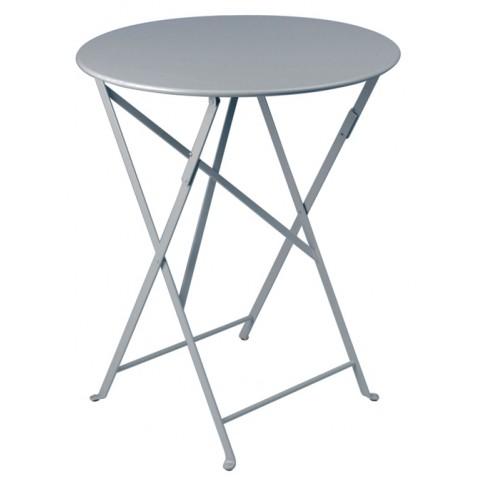 Table ronde pliante BISTRO de Fermob D.60 x H.74 cm Gris orage
