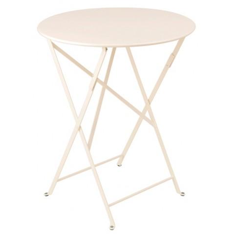 Table ronde pliante BISTRO de Fermob D.60 x H.74 cm Lin