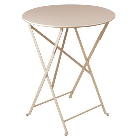 Table ronde pliante BISTRO de Fermob D.60 x H.74 cm Muscade