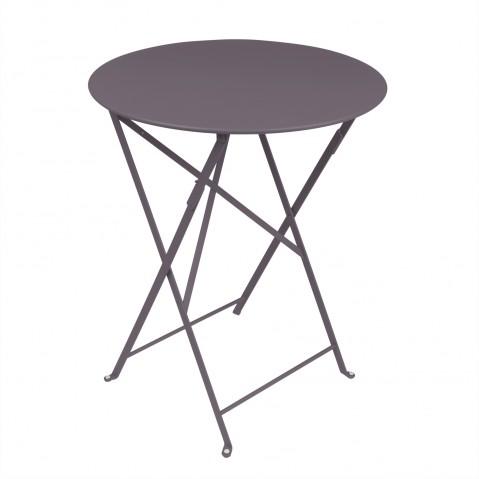 Table ronde pliante BISTRO de Fermob D.60 x H.74 cm Prune