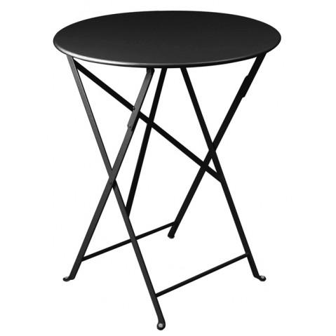Table ronde pliante BISTRO de Fermob D.60 x H.74 cm Réglisse
