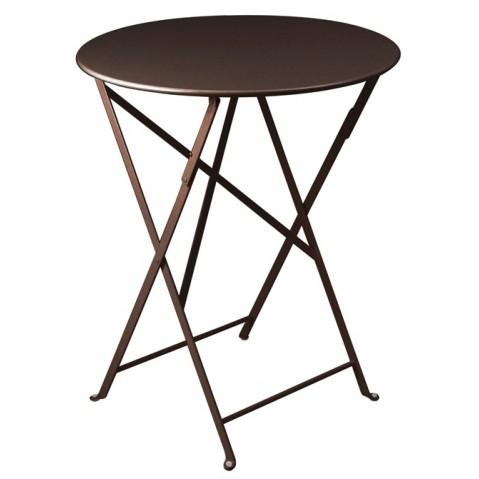 Table ronde pliante BISTRO de Fermob D.60 x H.74 cm Rouille