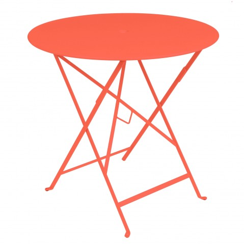 Table ronde pliante BISTRO de Fermob, D.77 x H.74 cm, Capucine