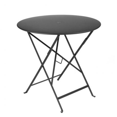 Table ronde pliante BISTRO de Fermob D.77 x H.74 cm Carbone
