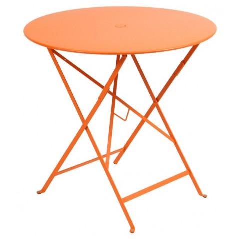 Table ronde pliante BISTRO de Fermob D.77 x H.74 cm Carotte