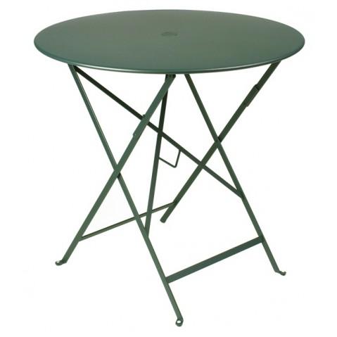 Table ronde pliante BISTRO de Fermob D.77 x H.74 cm Cèdre