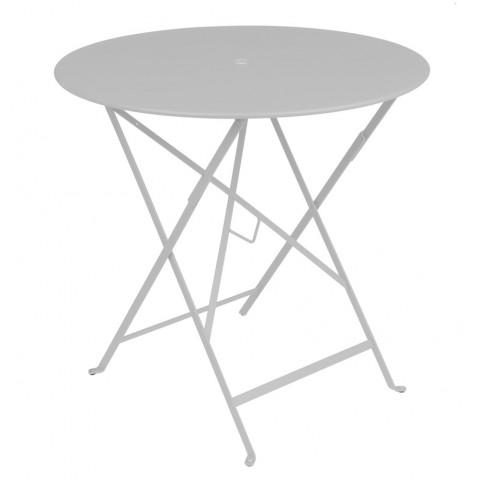 Table ronde pliante BISTRO de Fermob D.77 x H.74 cm Gris métal