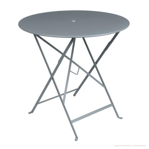 Table ronde pliante BISTRO de Fermob D.77 x H.74 cm Gris orage